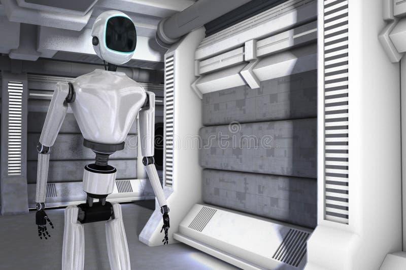 Robot station vector illustration