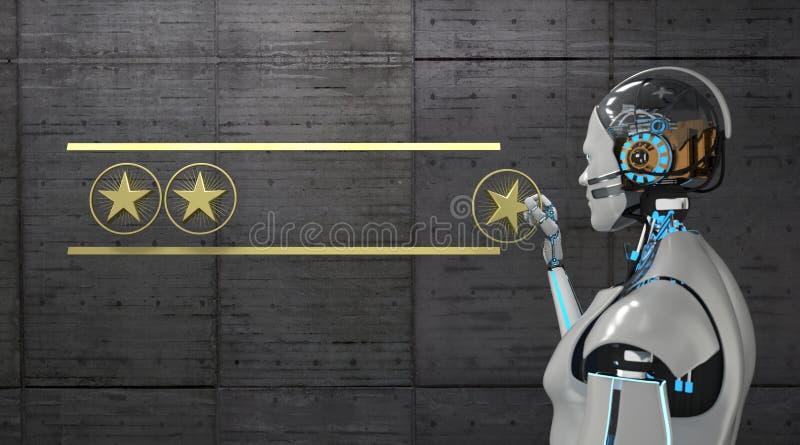 Robot 4 Sterren het Schatten vector illustratie