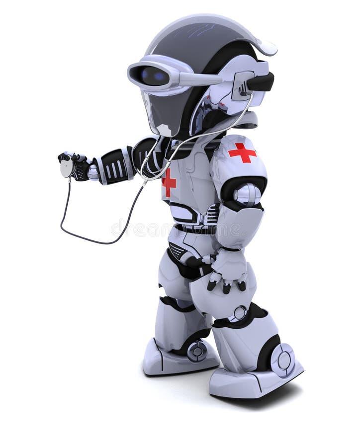 Robot With Stethoscope Stock Photos
