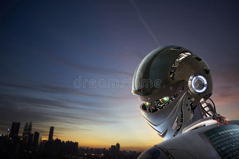 Robot Stylish royalty free stock photography
