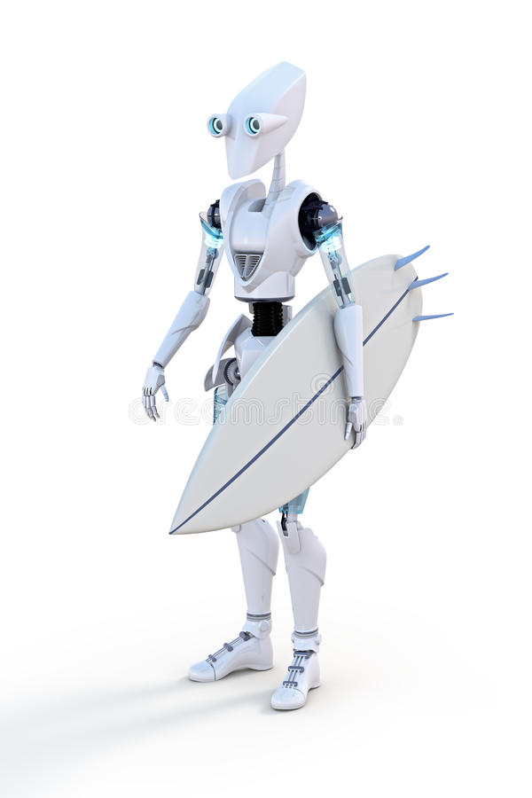 Robot Surfer royalty free stock image