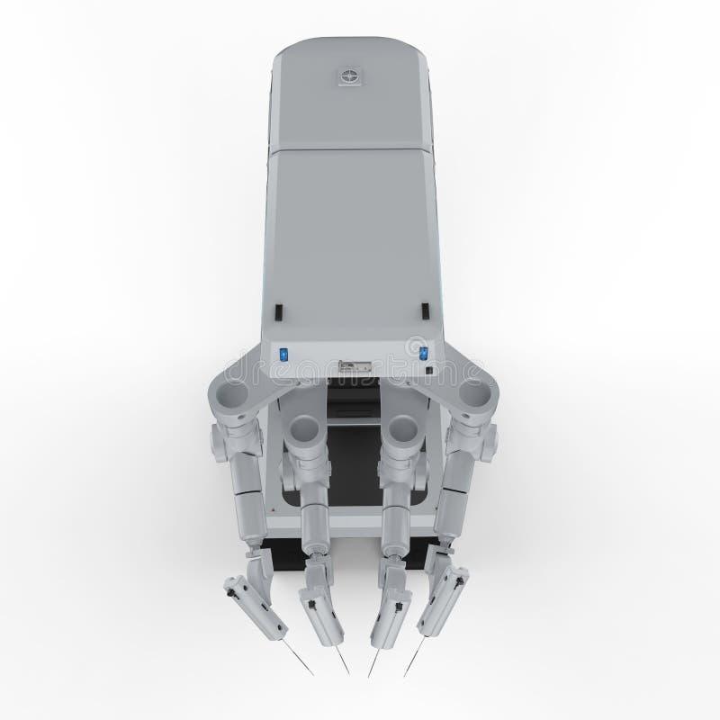 Robot surgery machine. 3d rendering robot surgery machine on white background vector illustration