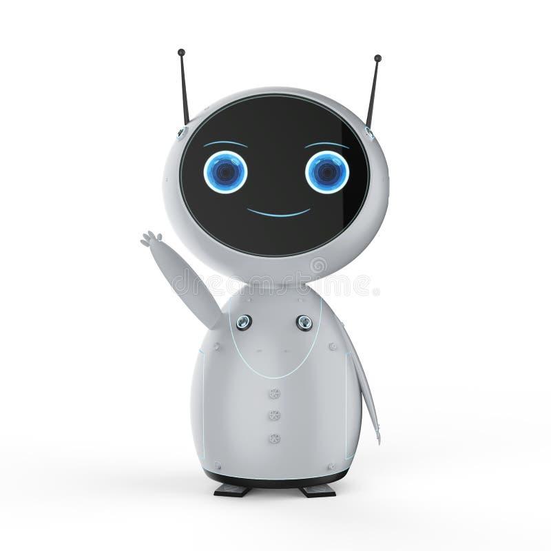 Robot sveglio di intelligenza artificiale