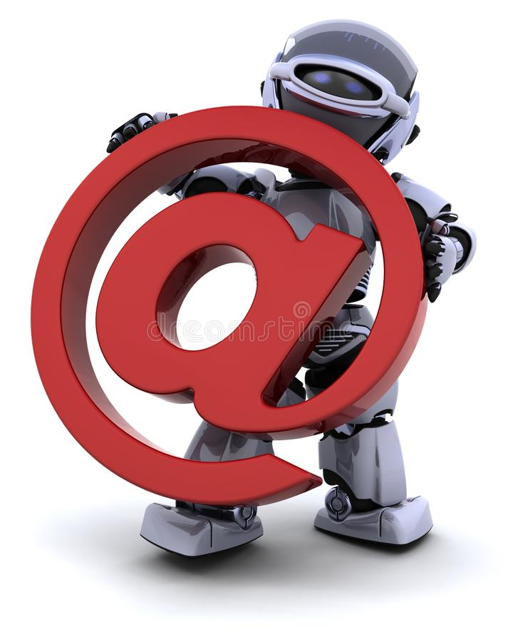 Download Robot with symbol stock illustration. Illustration of internet - 14298740