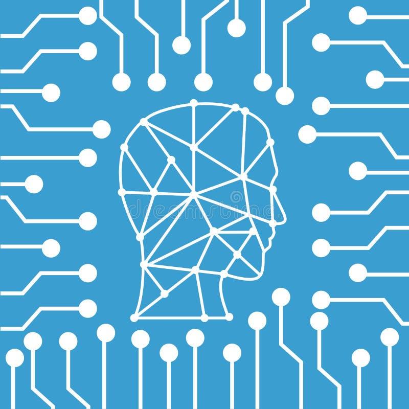 Robot Sztuczna inteligencja ilustracji