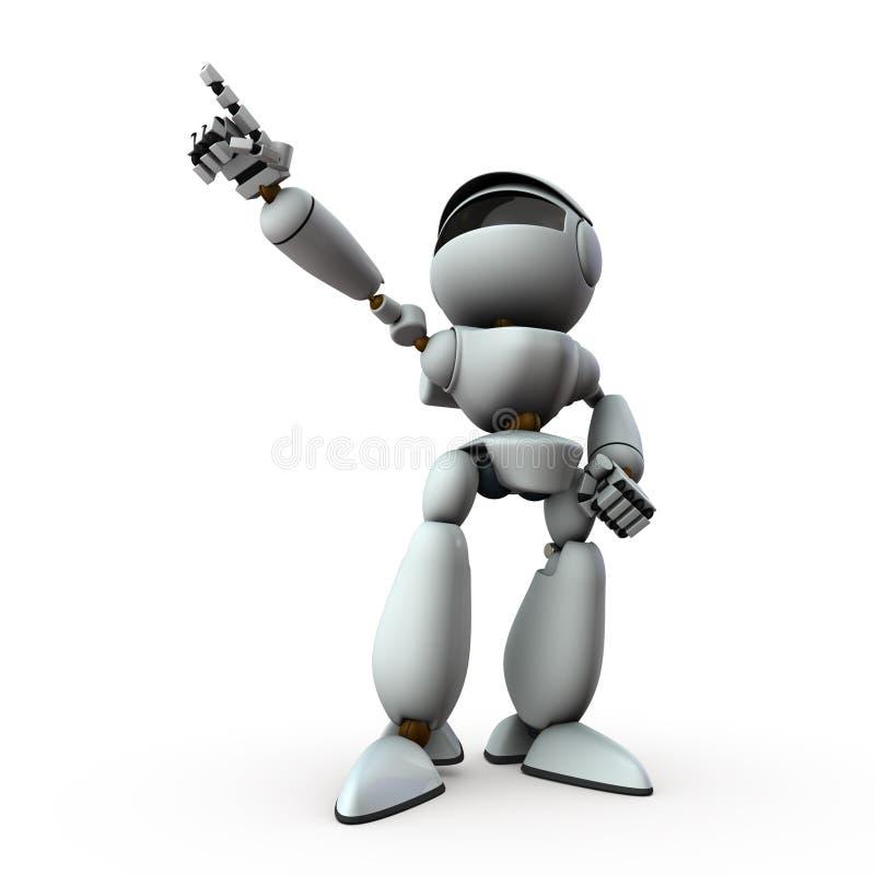Robot sztucznej inteligencji wskazuje cel royalty ilustracja