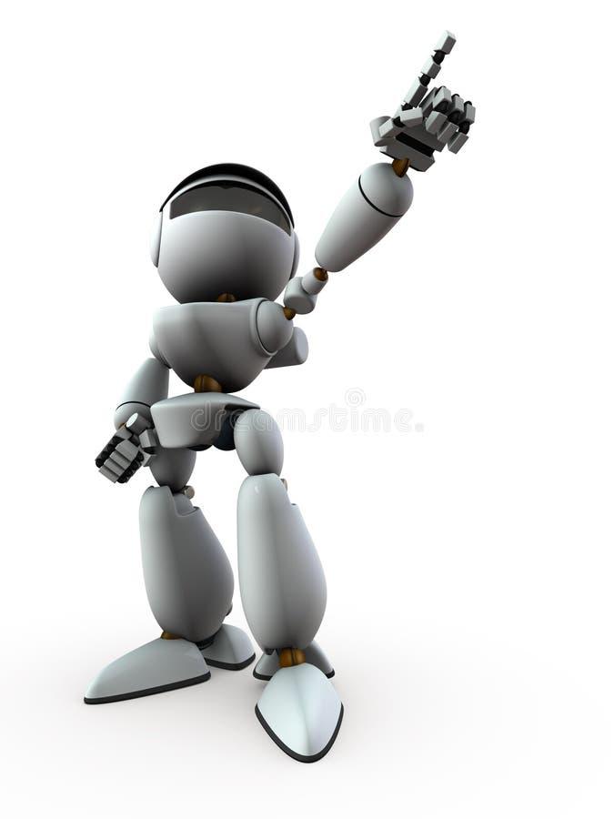 Robot sztucznej inteligencji wskazuje cel ilustracji