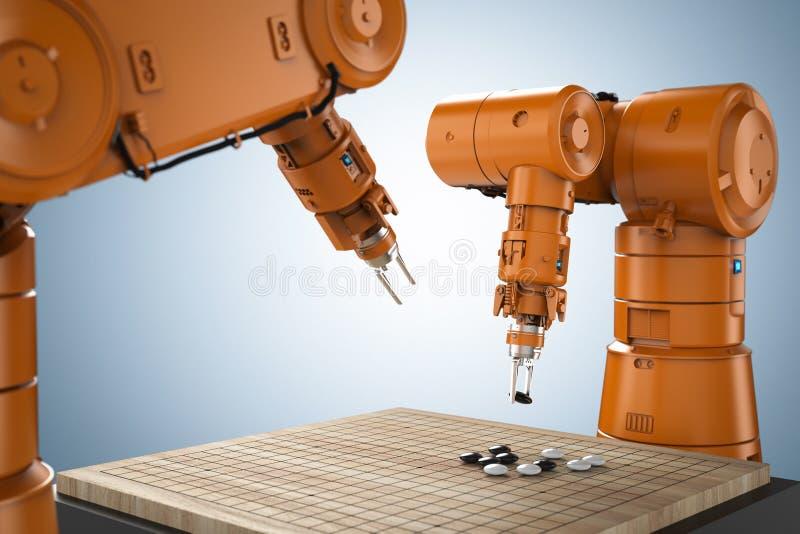 Robot sztuka iść ilustracji