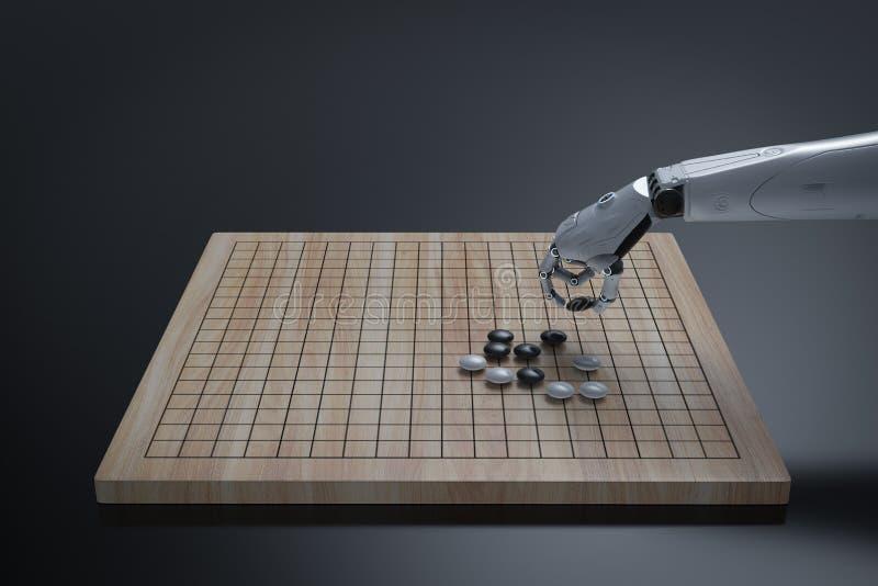Robot sztuka iść ilustracja wektor
