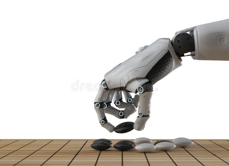 Robot sztuka i?? royalty ilustracja