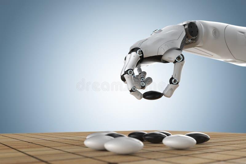Robot sztuka i?? ilustracji