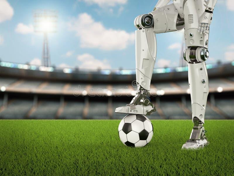 Robot sztuki piłka nożna royalty ilustracja