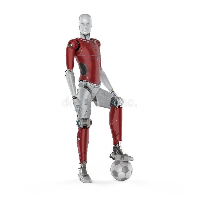 Robot sztuki piłka nożna ilustracji