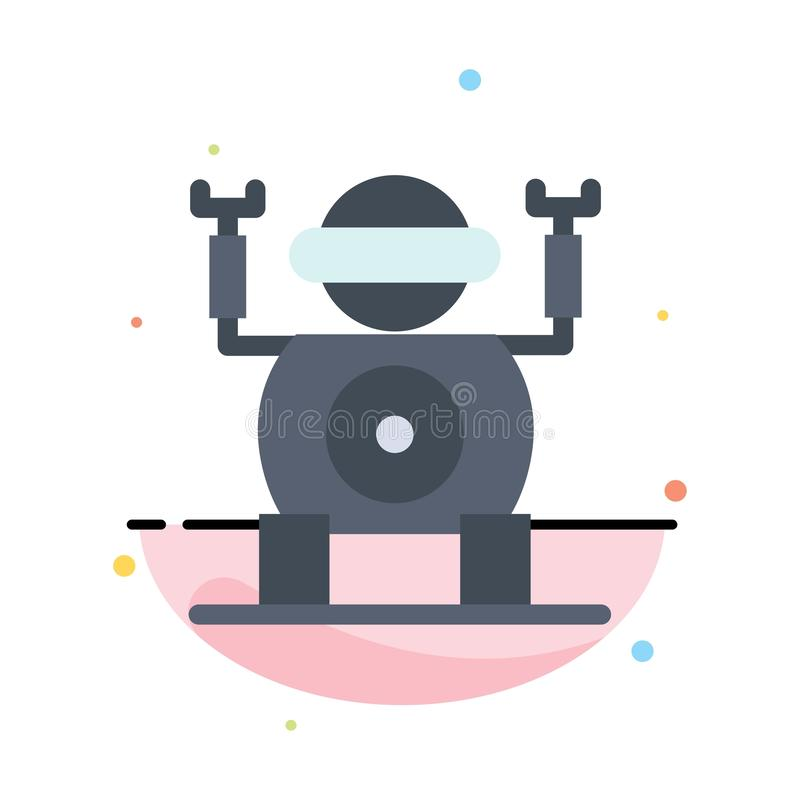 Robot teknologi, Toy Abstract Flat Color Icon mall stock illustrationer