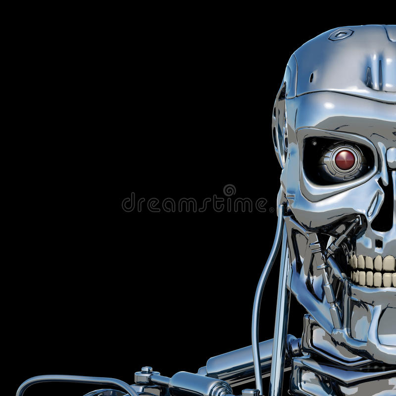 Robot terminator vector illustration