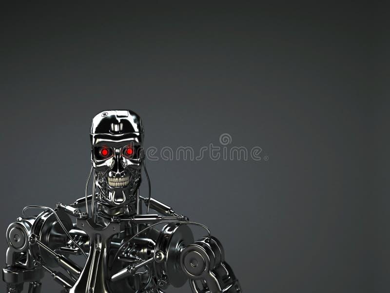 Robot terminator stock illustration