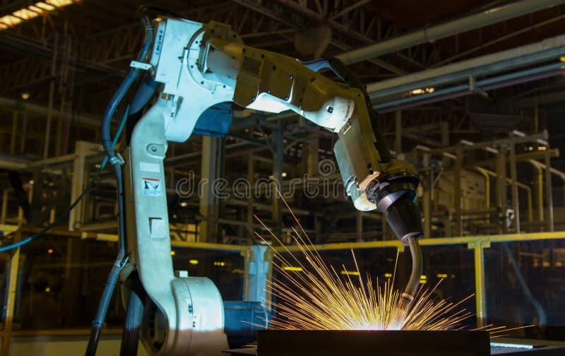 Robot Test Run Welding Program Stock Photo - Image of industry ...
