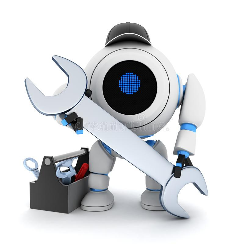 Download Robot and tools stock illustration. Illustration of modern - 22955734