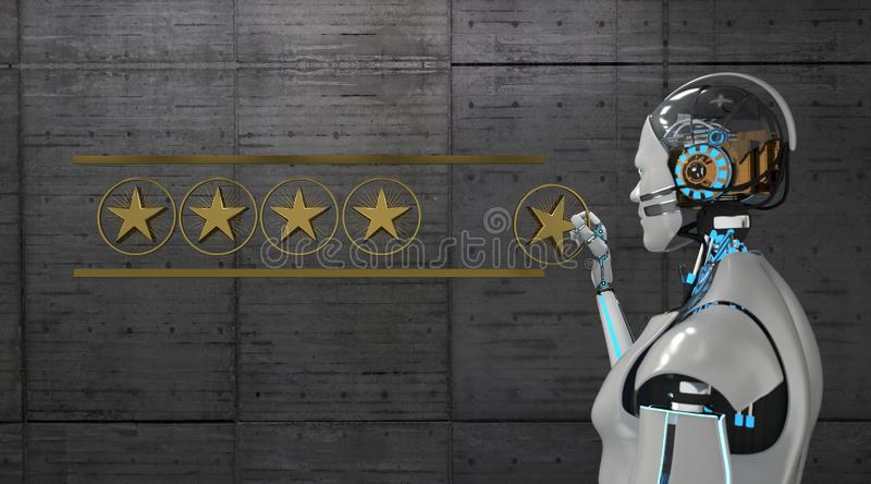 Robot Top Rating stock illustration