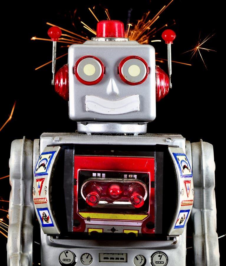 Robot toy smiling royalty free stock image