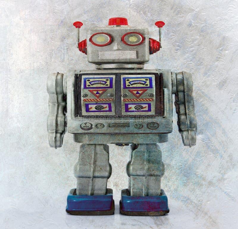 Robot toy smiling stock photos