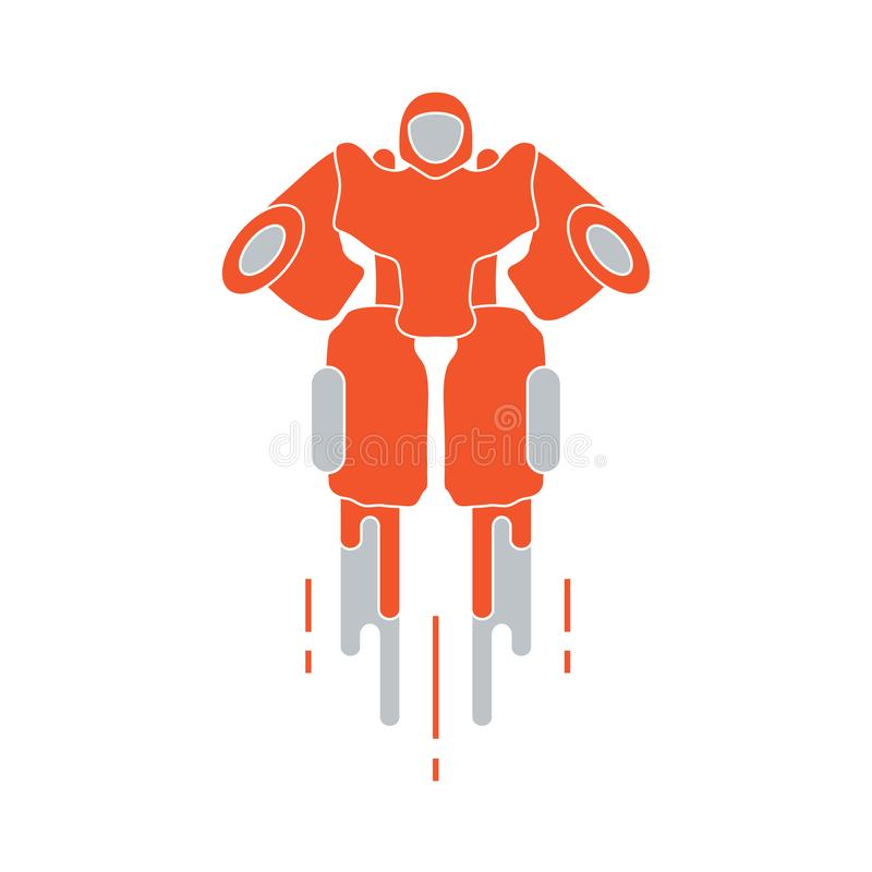 Robot. Toys for children. Robotics, technologies vector illustration