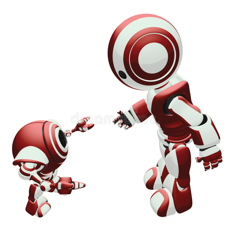 Download Robot Training stock illustration. Image of guiding, child - 6228889