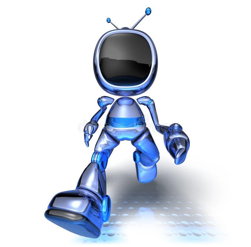 robot tv ilustracji