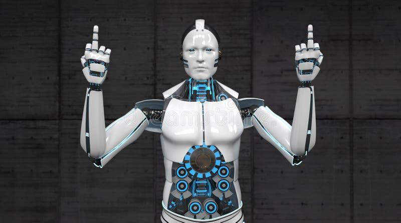 Robot Twee Vingers royalty-vrije illustratie