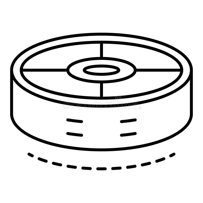 Robot vacuum cleaner icon, outline style royalty free illustration