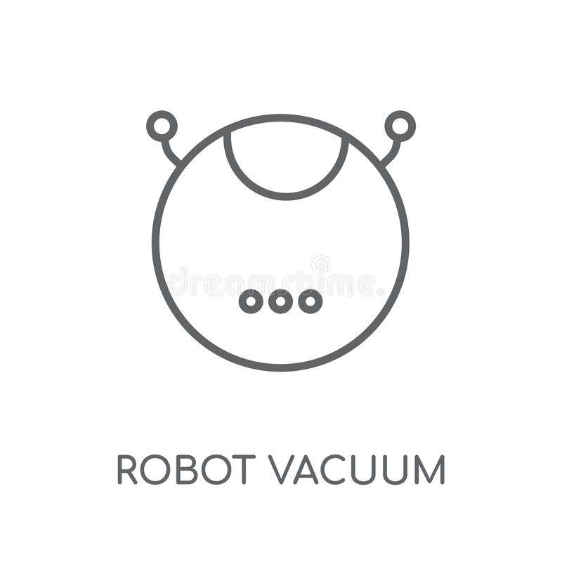 Robot vacuum cleaner linear icon. Modern outline Robot vacuum cl vector illustration