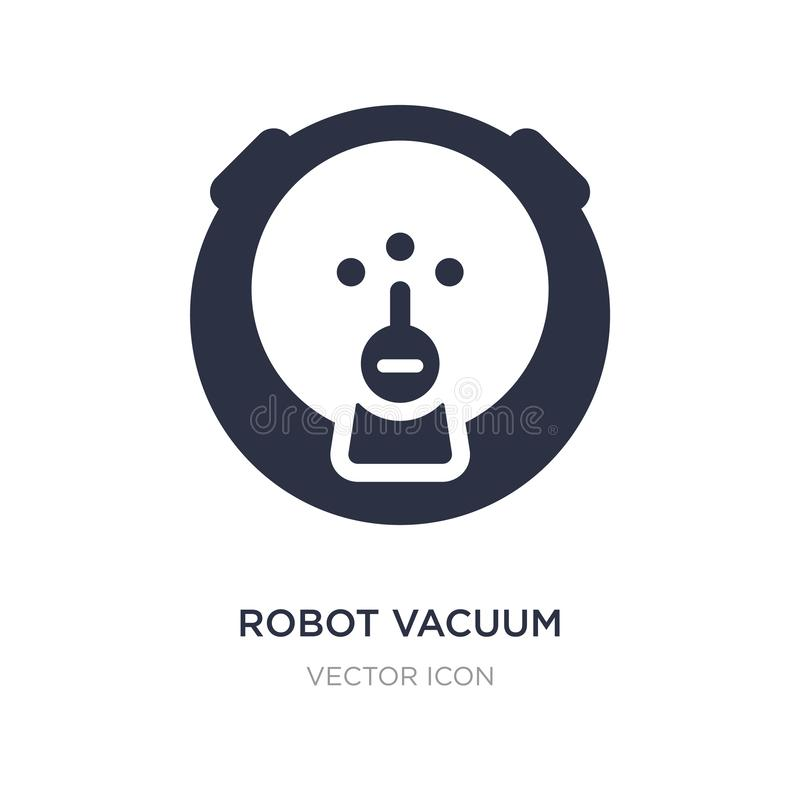 robot vacuum icon on white background. Simple element illustration from Technology concept royalty free illustration