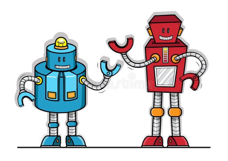 Robot vector toy model. Cartoon royalty free illustration
