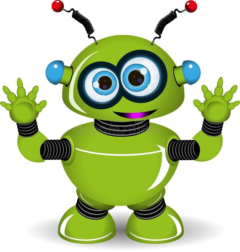 Robot verde stock de ilustración