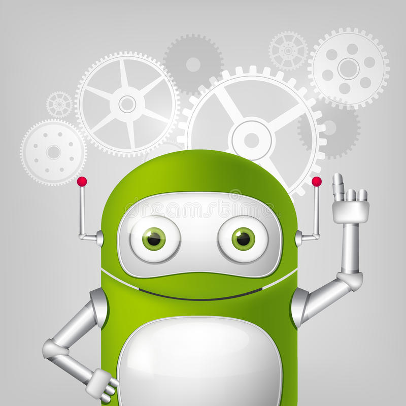 Robot vert illustration stock