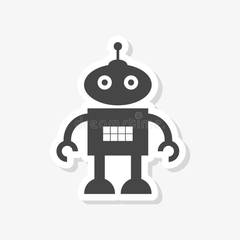Robot vlakke eenvoudige sticker stock illustratie