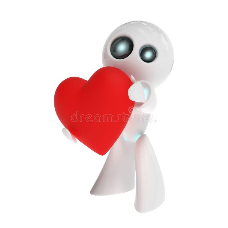 Robot w miłości ilustracji
