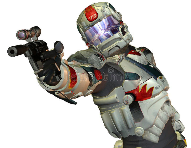 Download Robot Warriors From The Future Stock Illustration - Image: 18996856