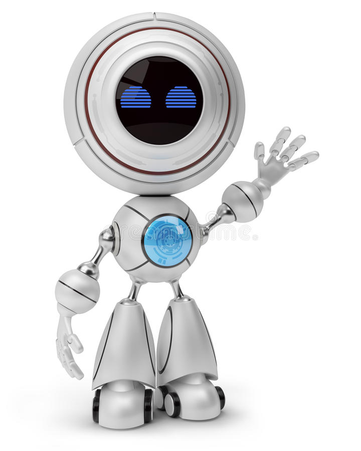Robot waving vector illustration