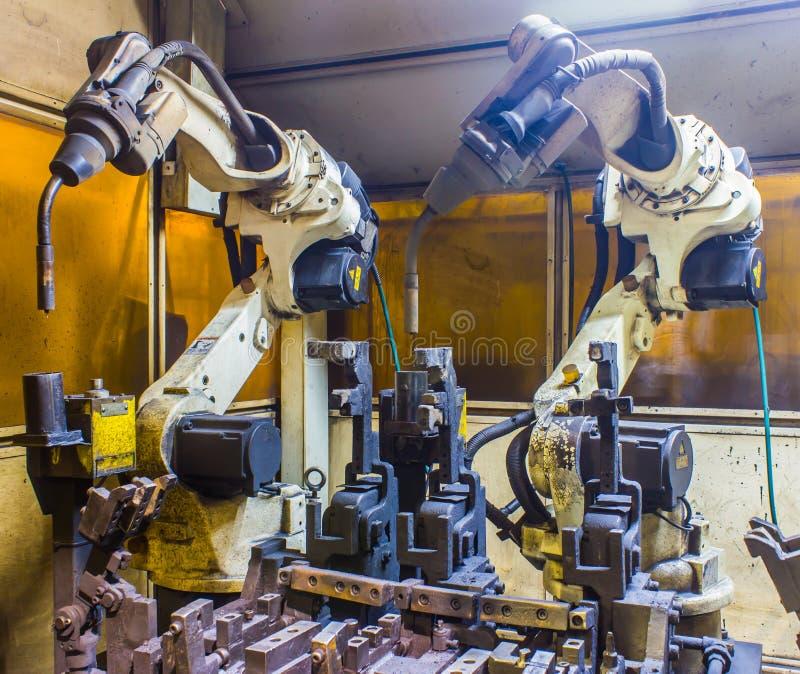 Robot welding machine stock images