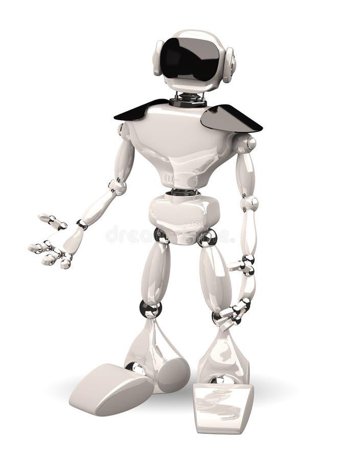 Robot On White Background Royalty Free Stock Image