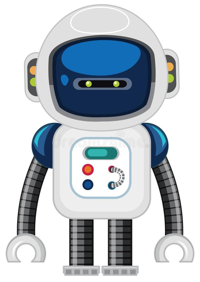 A robot on white background stock illustration