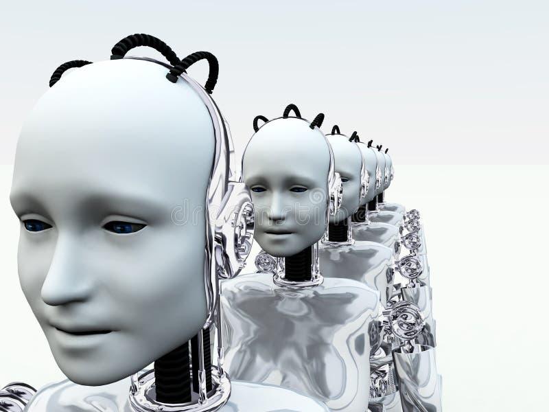 Download Robot Women 3 stock illustration. Image of render, head - 2829607