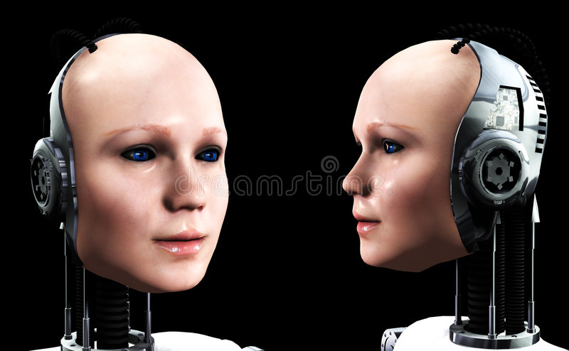 Download Robot Women 4 stock illustration. Image of tech, robo - 3697429