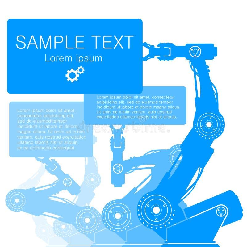 Robot wręcza ilustrację ilustracja wektor
