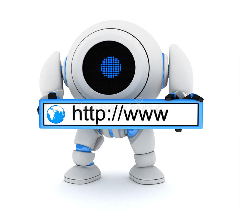 Download Robot and www address stock illustration. Image of connect - 26030524