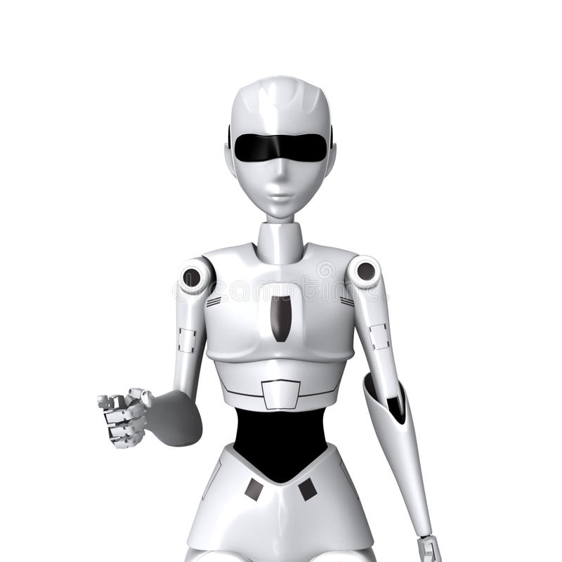 Download Robot and you pose stock illustration. Illustration of decorative - 45196198