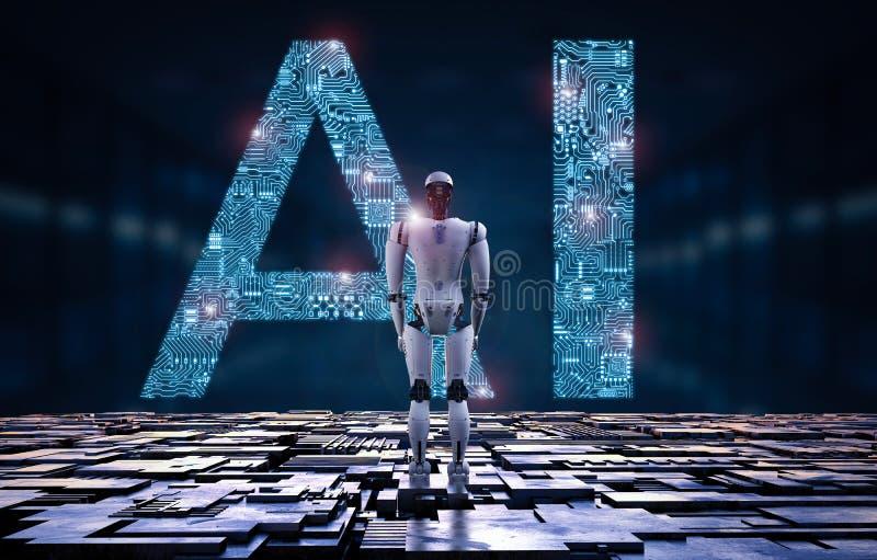 Robot z ai royalty ilustracja