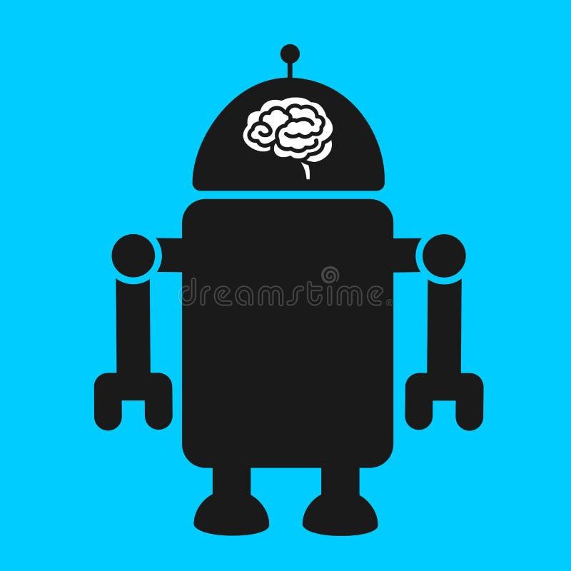 Robot z artifial inteligencją royalty ilustracja