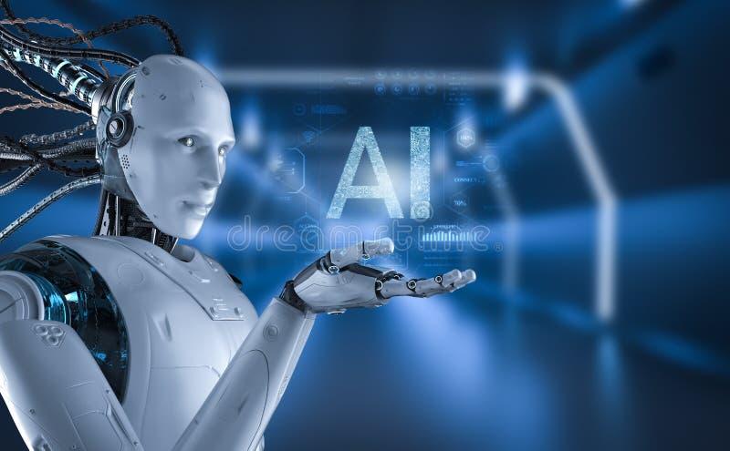 Robot z graficznym pokazem ilustracji